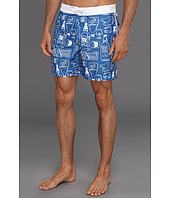 Original Penguin - Booze Bottle Sketches Print Volley Swim Short