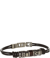 Fossil - Vintage Casual Beaded Leather Bracelet
