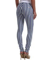 Hudson - Nico Mid Rise Super Skinny in Navy White Ladder Stripe