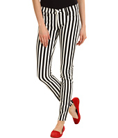 Hudson - Krista Super Skinny in Black White Ladder Stripe