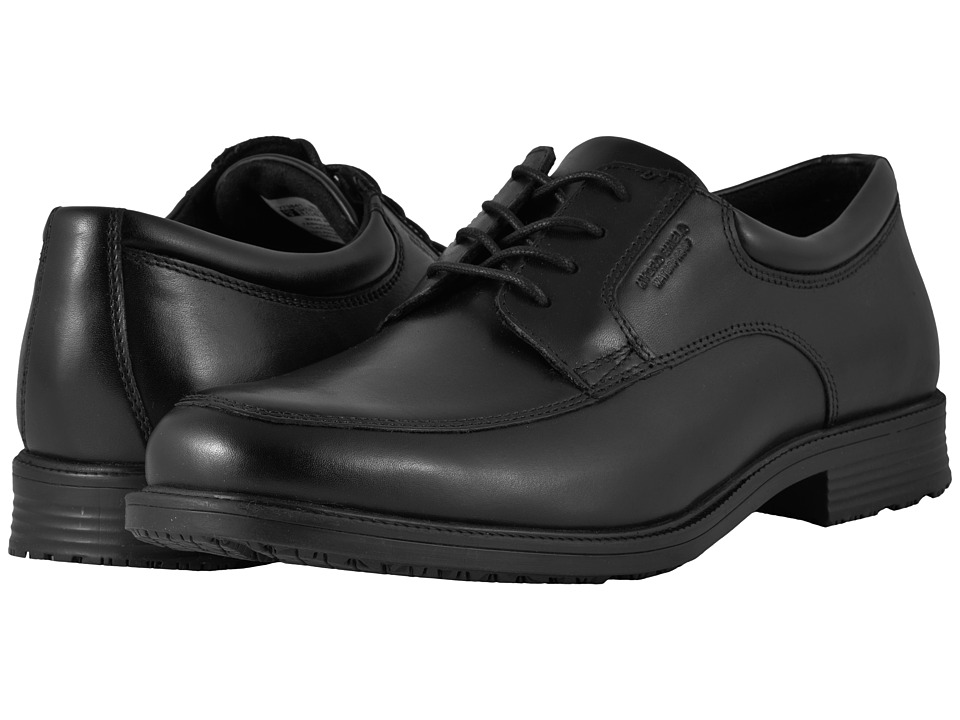Rockport - Essential Details Waterproof Apron Toe (Black) Mens Lace Up Cap Toe Shoes
