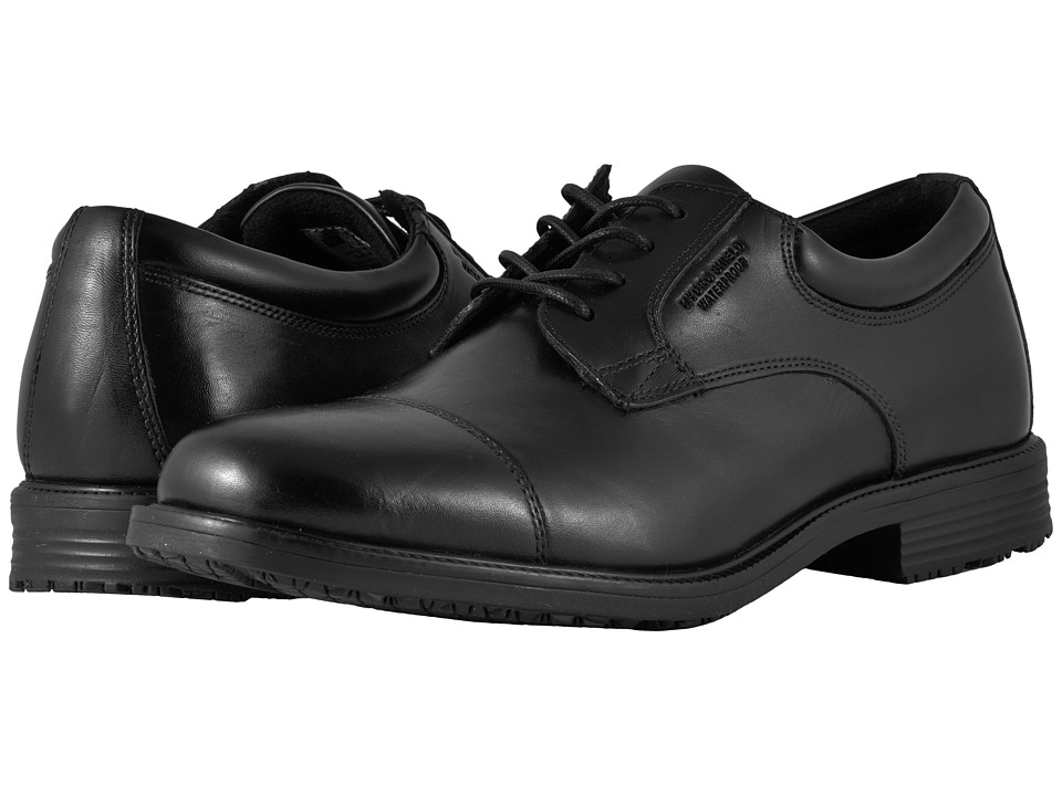 Rockport - Essential Details WP Cap Toe (Black) Mens Lace Up Cap Toe Shoes