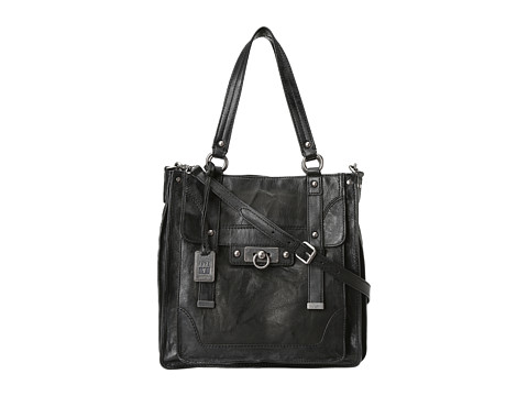 Frye Cameron Tote Black Antique Pull Up