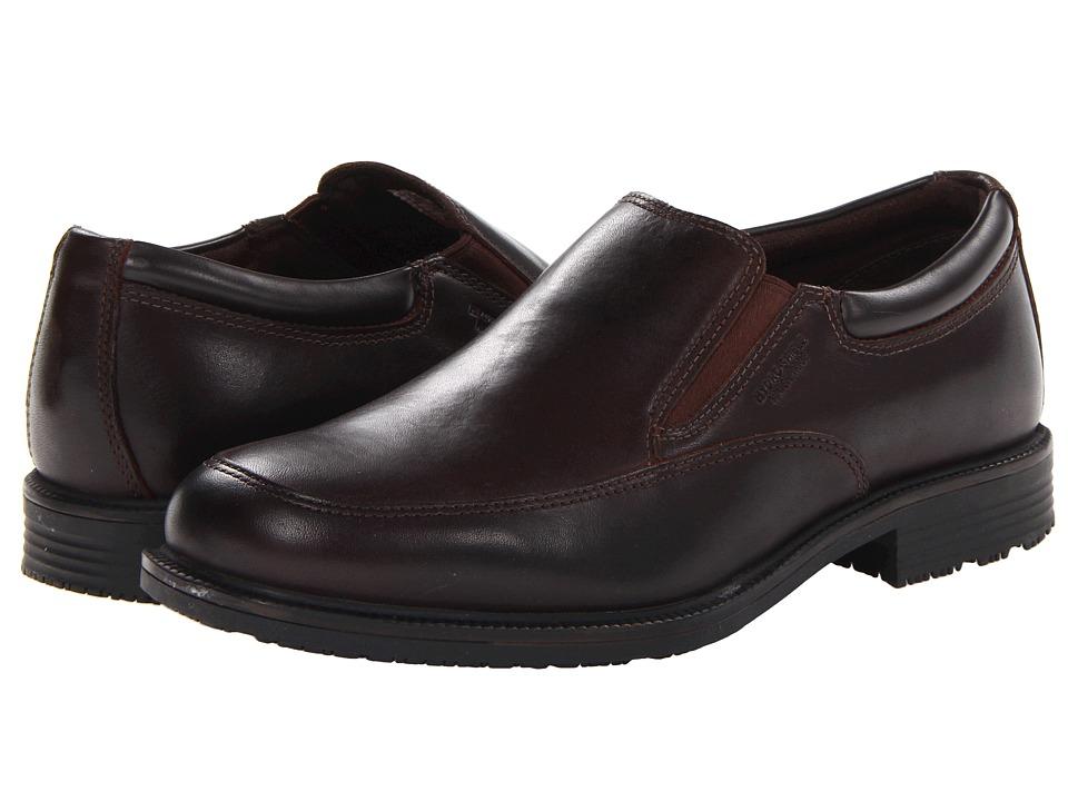 Rockport Essential Details Waterproof Slip On (Dark Brown) Men