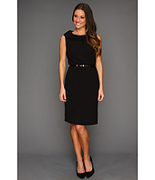 Ellen Tracy - Sleeveless Petal Collar with Belt