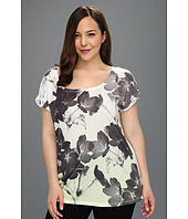 DKNY Jeans - Plus Size Sunrise Floral Print Top