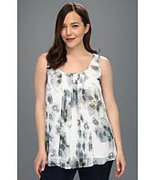 DKNY Jeans - Plus Size Photo Floral Print Top