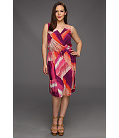 DKNY Jeans - Plus Size Tropical Stripe Print Dress