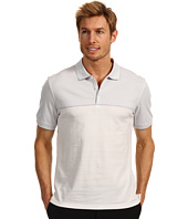 Calvin Klein - S/S 3 Button 30s Singles Engineered Stripe Polo