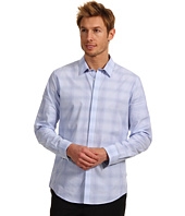 Calvin Klein - Slim Fit L/S Yarn Dye Ombre Plaid Poplin Woven Shirt