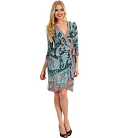 BCBGMAXAZRIA - Adele Paisley Wrap Dress