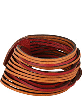 Linea Pelle - Two Tone Sliced Leather Cuff