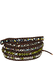 Chan Luu - Olivine Crystal Wrap/Natural Dark Brown-BG-3269