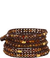 Chan Luu - Wrap with Pietersite and Skulls/Natural Brown-BG-3187