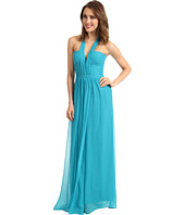 BCBGMAXAZRIA - Starr Deep V-Neck Silk Halter Dress