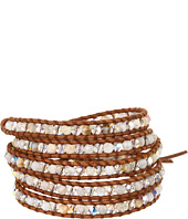 Chan Luu - Wrap with African Opal and Crystals/Natural Brown-BS-3008