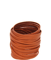 Linea Pelle - Classic Double Wrap Sliced Leather Cuff