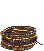 Chan Luu - Wrap with Hematite and SS Nuggets/Brown-BS-2620