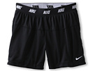 Nike Kids - Girls' Sport Mesh Rev Short 4 (Little Kids/Big Kids) (Black/Black/White) - Apparel