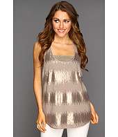 BCBGMAXAZRIA - Sequin Striped Jersey Tank