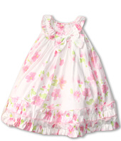 Biscotti - Watercolor Poplin Baby Ruffle Hem Dress (Infant 12-24 months)
