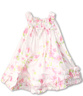 Biscotti - Watercolor Poplin Baby Ruffle Hem Dress (Toddler)