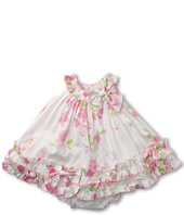 Biscotti - Watercolor Poplin Baby Ruffle Hem Dress (Infant 3-9 months)