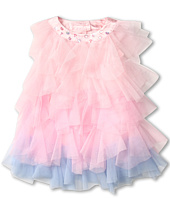 Biscotti - Rococo Rose Tiered Netting Dress (Infant)
