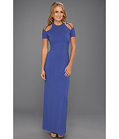 Halston Heritage - SS Gown with Shoulder Cut-Out