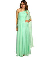 ABS Allen Schwartz - Draped One-Shoulder Gown