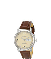 Jack Spade - Stillwell Cream Face Stainless Steel Case with Leather Rigid Heavystitch