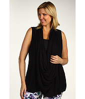 DKNY Jeans - Plus Size Sleeveless Wrap Cozy w/ Snaps
