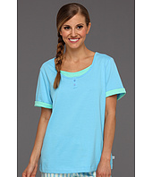 Karen Neuburger - Aquarius S/S Henley Pajama Top
