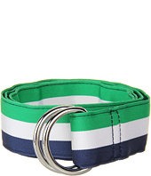 Vineyard Vines - Traveler Stripe Grosgrain Ribbon D-Ring Belt