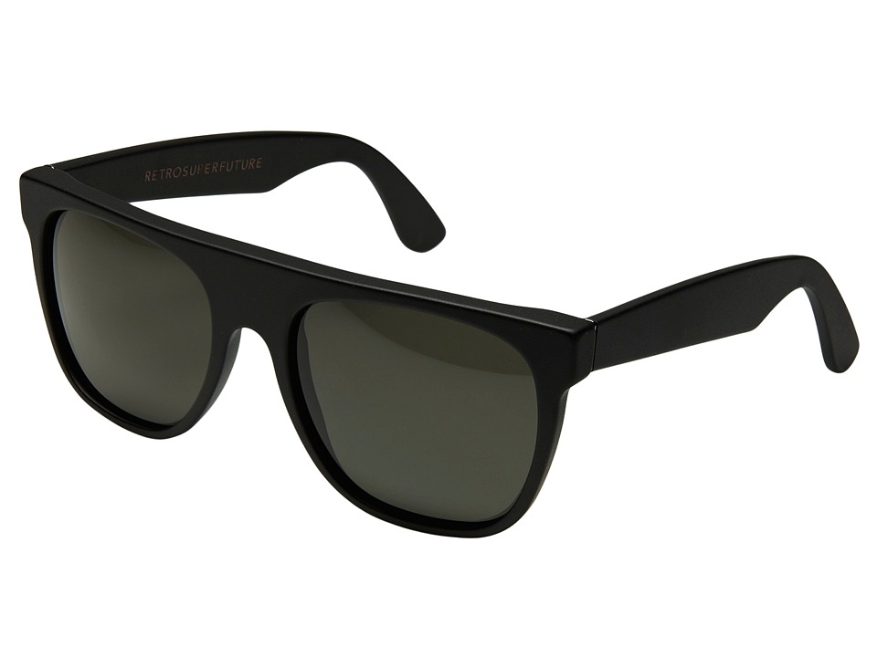 Super Sunglasses Flat Top Matte Black Super Flat Top Matte Black Fashion Sunglasses