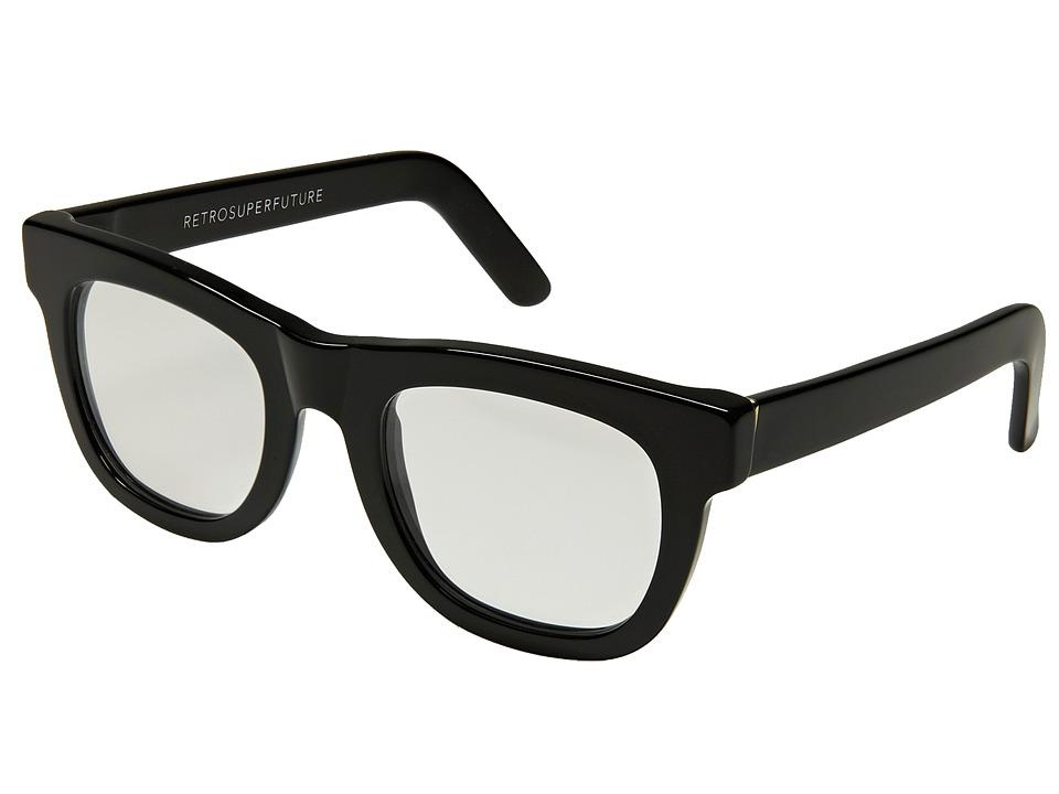 Super Ciccio Black/Clear Lens Plastic Frame Fashion Sunglasses
