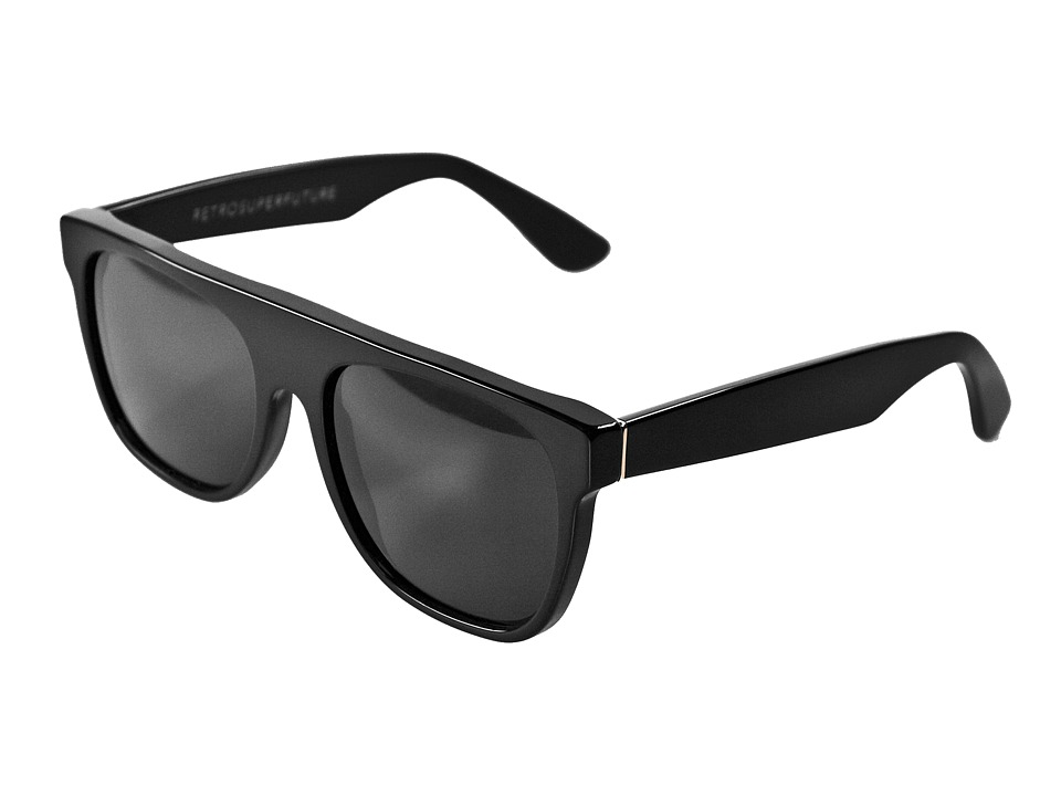 Super Flat Top Black Fashion Sunglasses