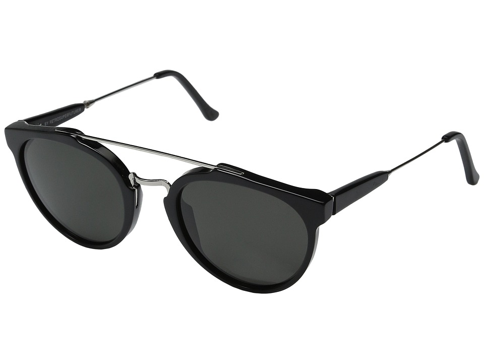 Super - Giaguaro 51mm (Black/Black) Fashion Sunglasses