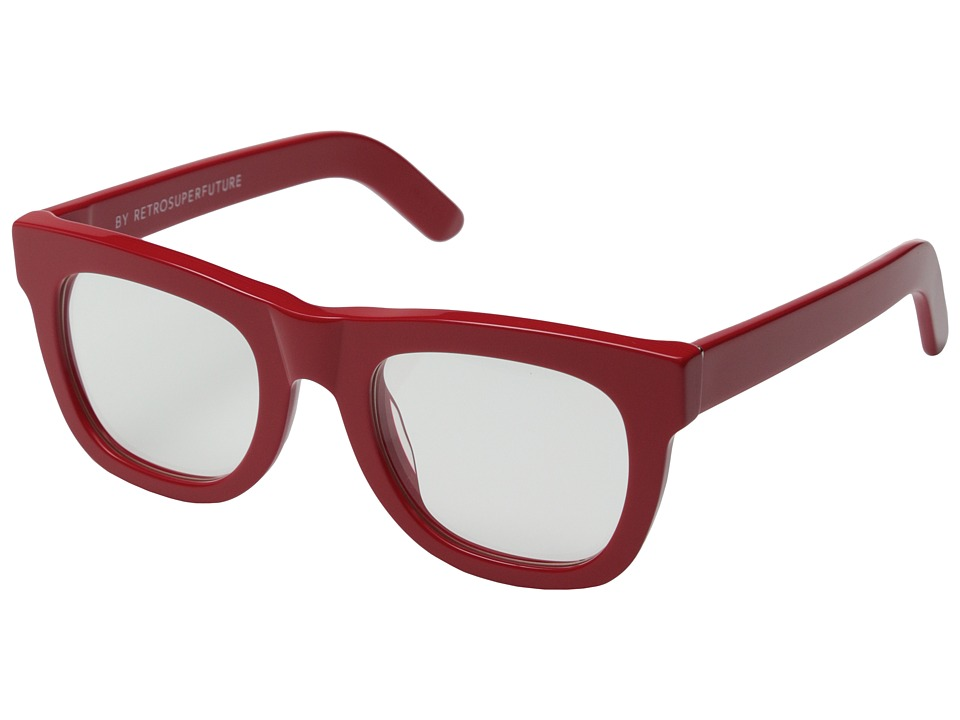 Super Ciccio Red/Clear Lens Plastic Frame Fashion Sunglasses