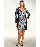 DKNY Jeans - Plus Size Monarch Butterfly Color Block Dress