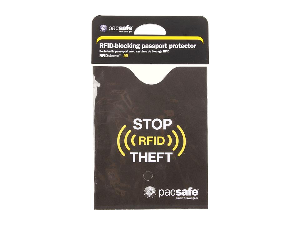 Pacsafe RFIDsleeve 50 RFID Blocking Passport Protector Black Bags
