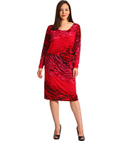Anne Klein Plus - Plus Size Ombre Zebra Print Dress