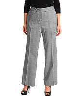 Anne Klein Plus - Plus Size Glen Plaid Trouser Leg Pant
