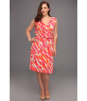 Anne Klein Plus - Plus Size Color Block Print Dress