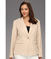Anne Klein Plus - Plus Size 1-Button Blazer