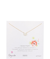 Dogeared Jewels - I Love Mom Large White Pearl Necklace