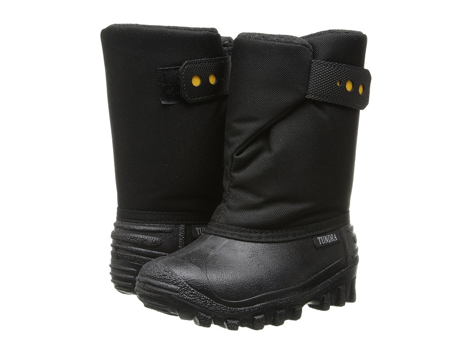 Tundra Boots Kids Teddy 4 (Toddler/Little Kid) (Black) Boys Shoes