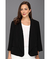 DKNYC - Plus Size 3/4 Sleeve Shawl Collar Open Front Jacket
