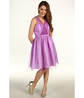 Donna Morgan - Hazel Mock Wrap Shirred Net Bodice Dress