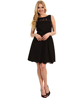 Jessica Simpson - Sleeveless Scoop Back Dress w/ Lace Contrast